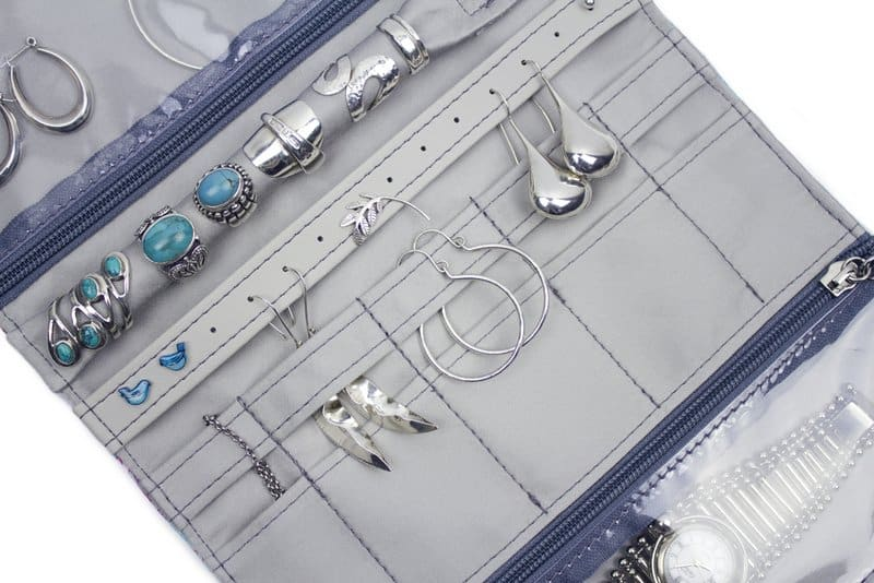 Punto Belle jewellery roll close up