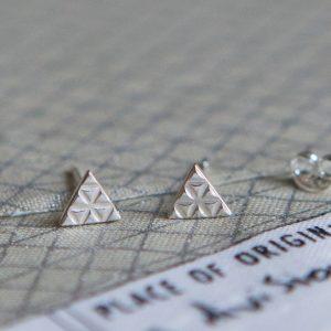 Silver Aztec Earrings - Main