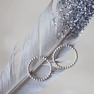 matte silver circle earrings