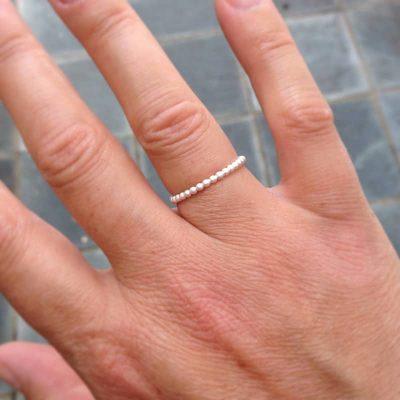 matte white stacking ring