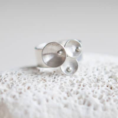 eco friendly wide silver ring