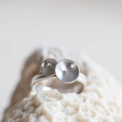 pearl inspired stacking rings