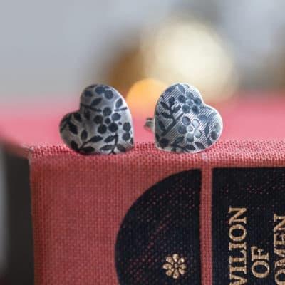 large heart earrings