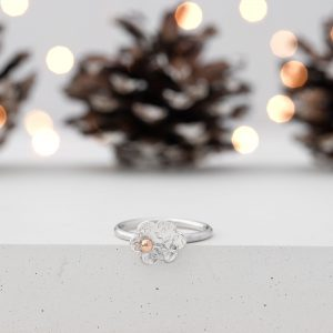 Rose Gold Flower Ring - Christmas