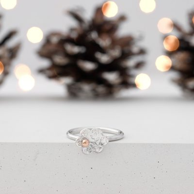 Rose Gold Flower Ring - Christmas
