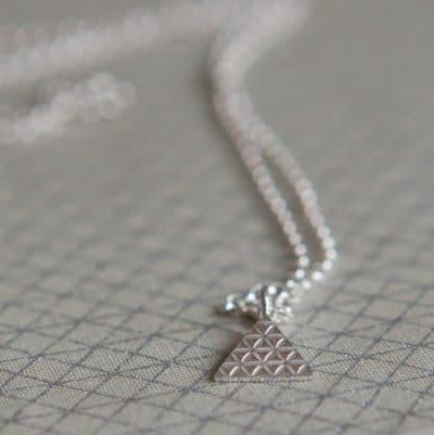 silver aztec necklace - main