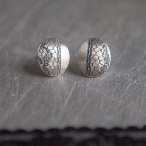 black lace earrings - main