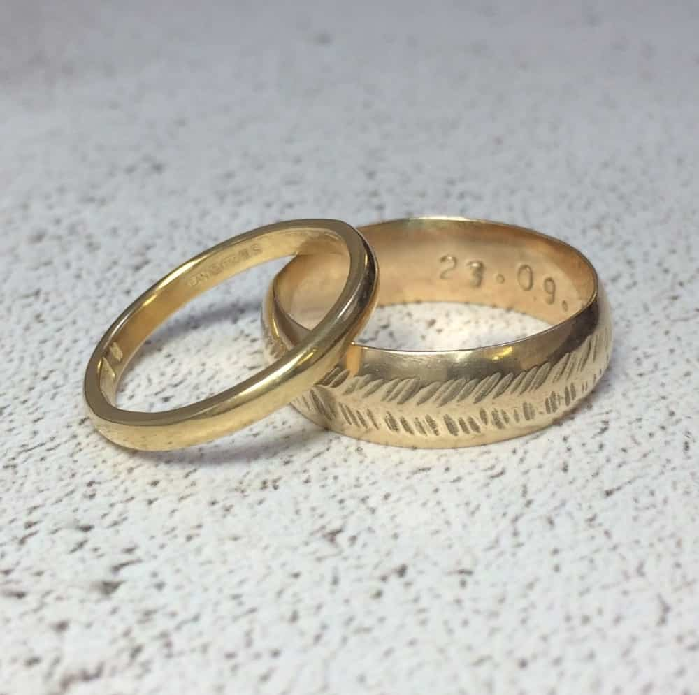 Emma and Jamie make wedding rings