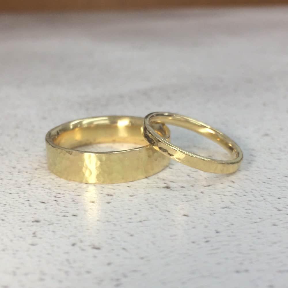 Tasha and Tom make wedding rings