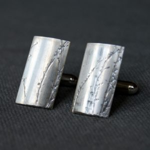 nature inspired eco silver cufflinks