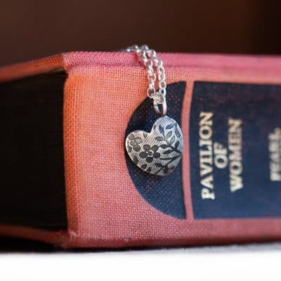 Vintage Floral Small Heart Necklace 1