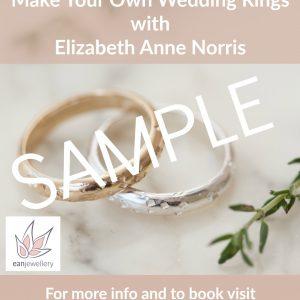 wedding ring making gift voucher sample