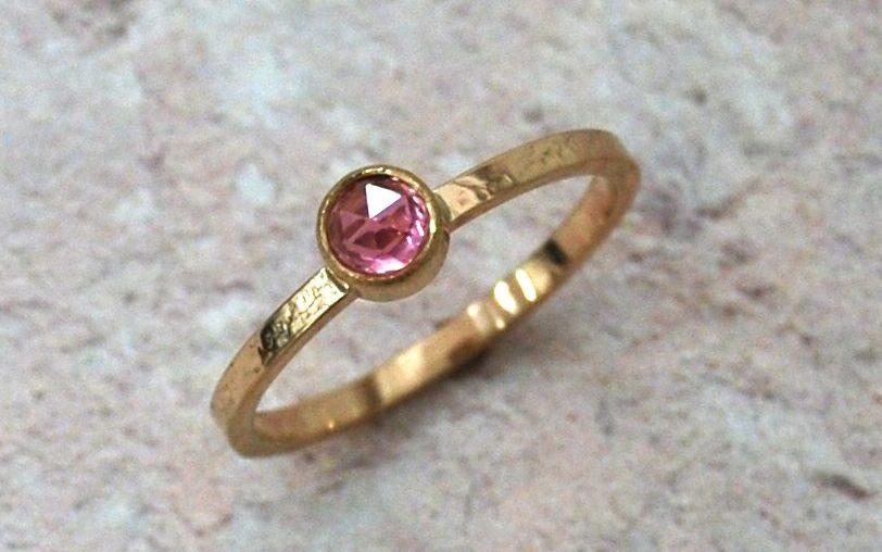 sme news award Pink Tourmaline gold ring eco friendly wedding jewellery