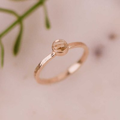 rose cut citrine gold ring