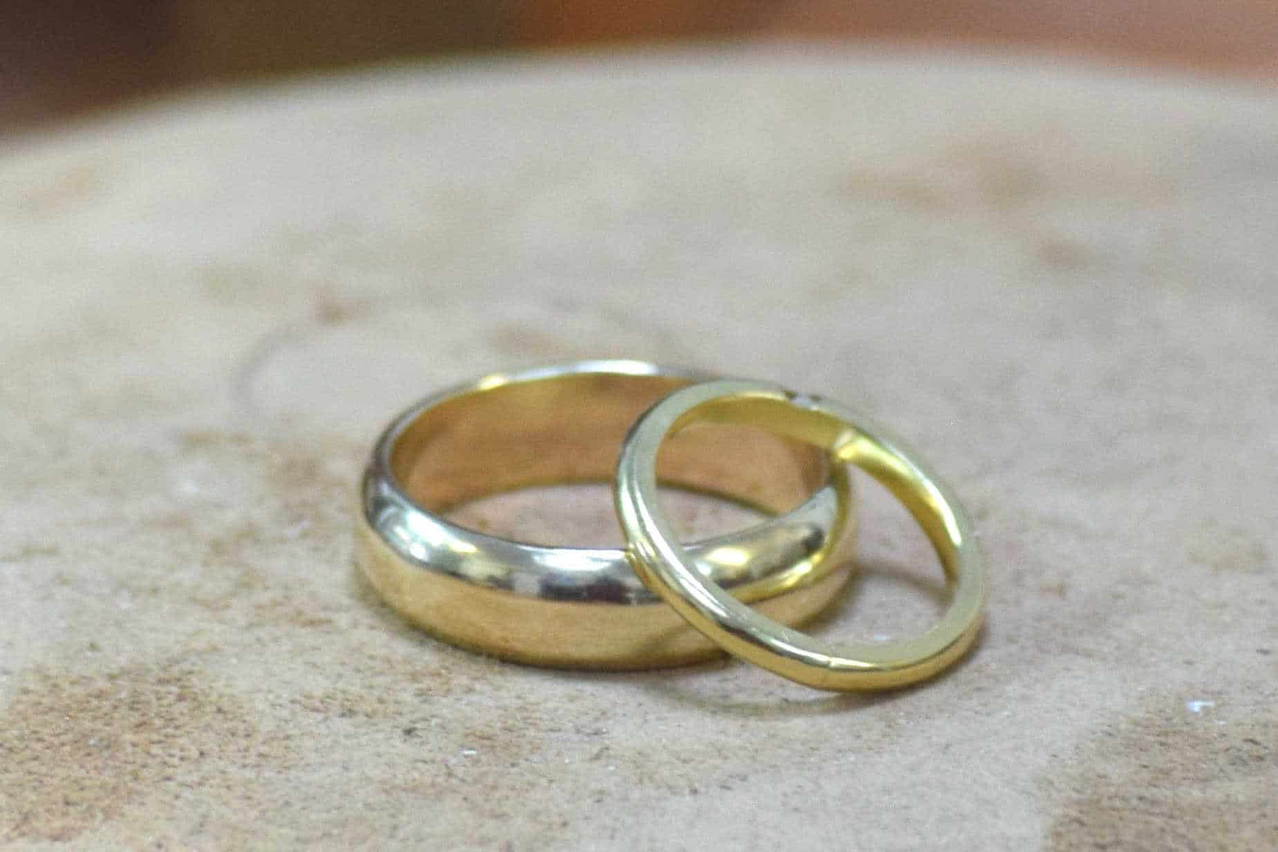Cherese and Dave's beautiful rings